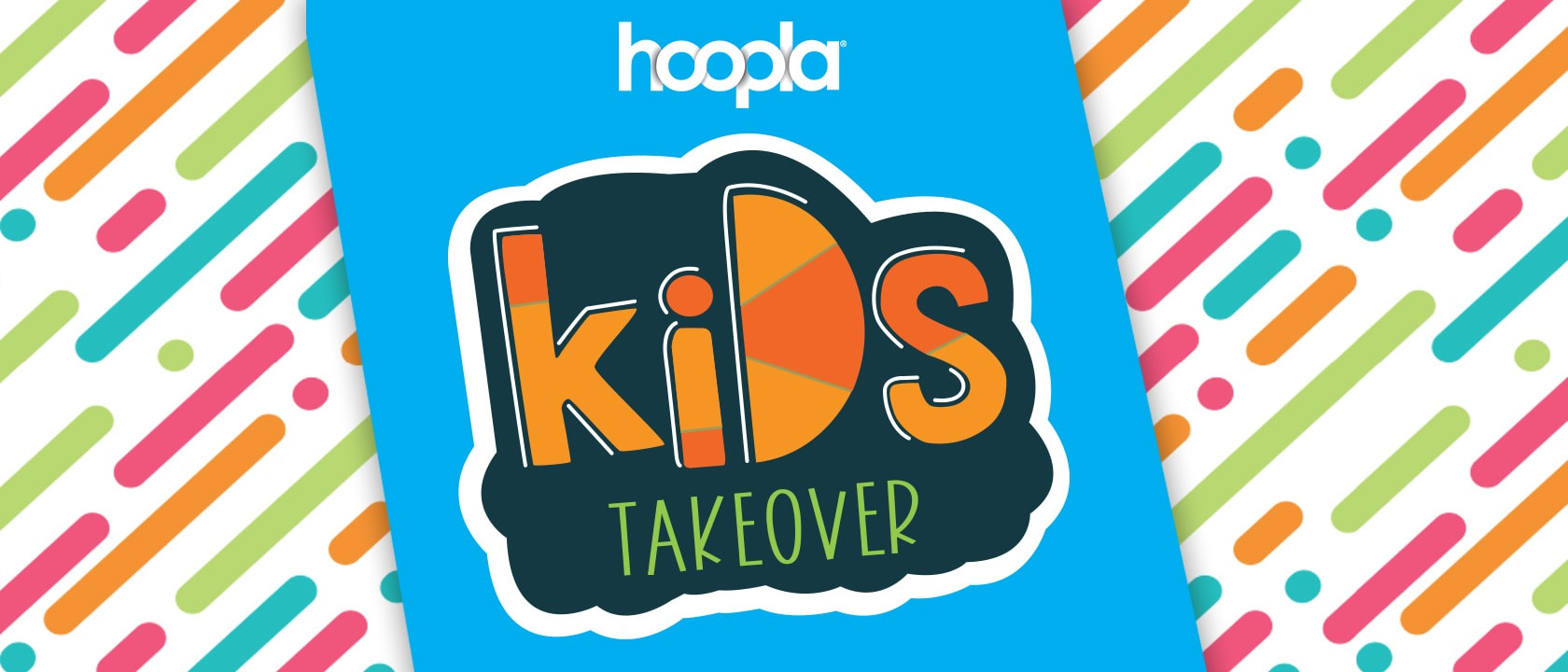 hoopla Kids Takeover logo
